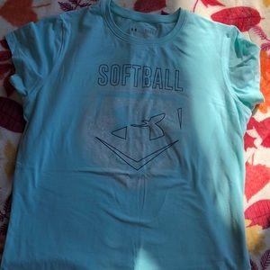 Under Armour Shirts & Tops - Girls Under Armour heatgear t-shirt bundle